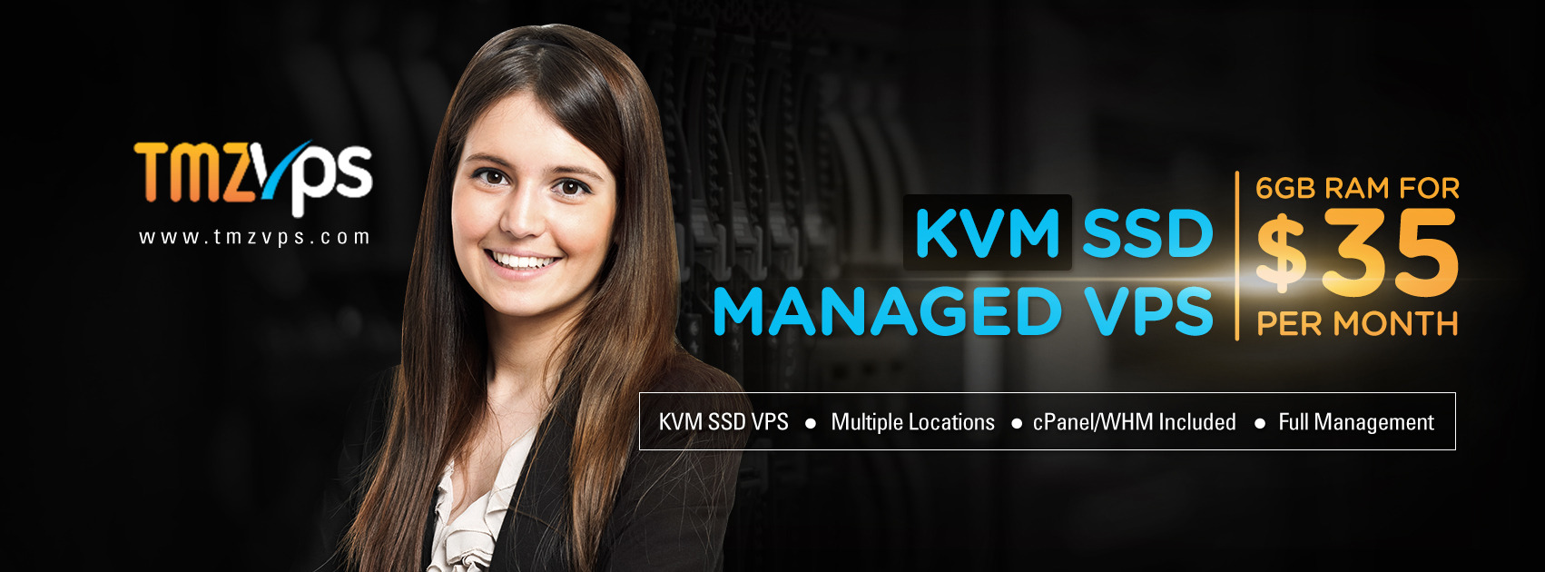 tmzVPS Managed KVM SSD VPS